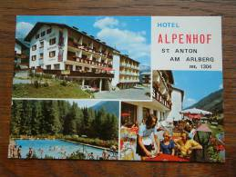 ALPENHOF Hotel - St. Anton Am Arlberg Tirol Austria / Anno 19?? ( Voir/zie Foto Voor Details ) !! - Hotels & Restaurants