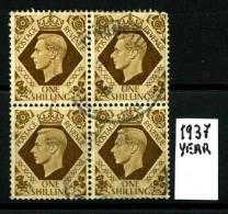 GRAN BRETAGNA - Re GIORGIO VI - Quartina -year 1937 - Viaggiata - Traveled. - Usati