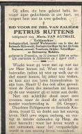 ( C 8 ) ° TREMELOO 1896 + HOEVENEN 1935 PETRUS RUTTENS  VELDWACHTER/WACHTMEESTER RIJKSWACHT... - Images Religieuses