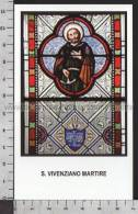 Xsa-11428 S. San VIVENZIANO MARTIRE VIVENZIO Santino Holy Card - Religion & Esotericism
