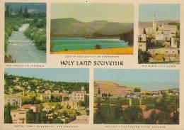 Jordan PPC Holy Land Souvenir JERUSALEM Cds. Sent To CHARLOTTE North Carolina United States (2 Scans) - Jordanien