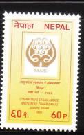 Nepal 1989 Combating Drug Abuse & Trafficking MNH - Nepal