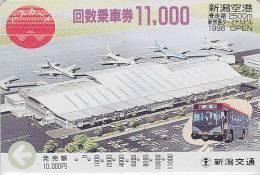 Carte Prépayée Japon - AVION - Aéroport & Autobus - Airplane Airline Japan Prepaid Card - Flugzeug Bus Karte - 322 - Vliegtuigen