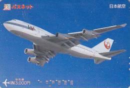 Carte Prépayée Japon - AVION - JAL - Airplane Airline Japan Prepaid Card - Flugzeug Passnet Karte - 328 - Airplanes
