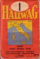 Carte Routiere  ITALIE HALLWAG - Cartes Routières