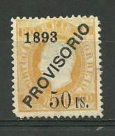 Portugal #96 D.Luis 50r Ovpt Provisorio Mint - L3250 - 1862-1884 : D.Luiz I