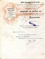 83.TOULON.DEPOT D´ALLUMETTES DE L´ETAT.CARTES A JOUER,FEUX D´ARTIFICE.IMBERT & LATIL. - Non Classés