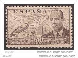 ES943-LA863TPO.Spain Espagne INVENTOR DEL AUTOGIRO.Ingeniero JUAN DE LA CIERVA 1941/1947 (942**) Sin Charnela MUY BONITO - Profesiones