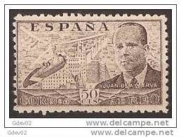ES943-LA863TPO.Spain Espagne INVENTOR DEL AUTOGIRO.Ingeniero JUAN DE LA CIERVA 1941/1947 (942**) Sin Charnela MUY BONITO - Berufe