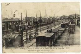 TOURS -  Entrée De La Gare - Vue De La Passerelle. - Tours