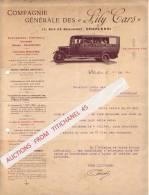 """Lettre Illustrée 1930 -CHARLEROI -Compagnie Générale Des """"LILY CARS"""" -Voitures-limousines Excursions, Voyages, Noces, - Belgique"""