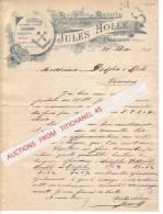 Lettre De 1895 - CHARLEROI - JULES MOLLE - Manufacture De Diamants - Non Classificati