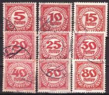 AUSTRIA ÖSTERREICH 1919/21 NEUE ZIFFERNZEICHNUNG USED / O / GESTEMPELT - Strafport