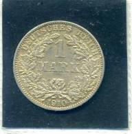 1 MARK. Deutsches Reich 1910. Zecca A. Argento SPL. - [ 2] 1871-1918: Deutsches Kaiserreich