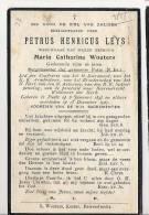 ( C 38 ) °  PUTTE 1847 + 1927  PETRUS LEYS    BURGEMEESTER VAN PUTTE (N.BR.) - Images Religieuses
