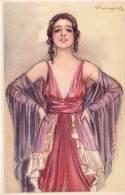 BOMPARD-APPEALING YOUNG LADY-NICE ART DECO ORIGINAL VINTAGE POSTCARD - Barber, Court