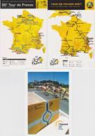 Lot De 3 CPM : Tour De France - 2001, 2003 Et 2007 - Cycling