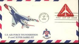 USA Cover  Thunderbirds F-100C  Super Sabre Jet - Sonstige (Luft)