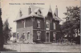 BELGIQUE:VILLERS-PERWIN:(Hainaut):Le Château De Mme Favresse.1908.Oblitération Relais:Villers-Perwin. - Belgique