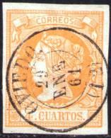 02-073 SPAIN 1860 EDIFIL 52 USADO OVIEDO RRR LUJO SPANIEN ESPAGNE SPANJE - 1850-68 Royaume: Isabelle II