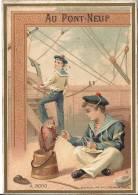 CHROMO IMAGE Magasin AU PONT NEUF Bijouterie éclairage  PARIS Marine Marins Perroquet Bateau - Trade Cards