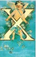 CP X Mio Nome Lettera It Creates Your Name ID - Il Crée Ton Nom Cartes Postales Fantasie L 1 Cartes Postales Thèmes - Nomi