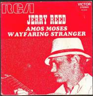 """45 T JERRY-REED  2 TITRES """" RCM """"  AMOS MOSES ...PUB PENELOPE - Country & Folk"""