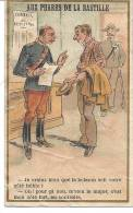 CHROMO IMAGE Magasin AUX PHARES DE LA BASTILLE PARIS Armée  INFANTERIE REGIMENT Révision - Chromos