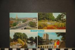 BEDFORD   POSTCARD  4 Views - Bedford