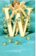 CP W Mio Nome Lettera It Creates Your Name ID - Il Crée Ton Nom Cartes Postales Fantasie L 1 Cartes Postales Thèmes - Nomi