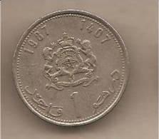 Marocco - Moneta Circolata Da 1 Dirham - 1987 - Marocco