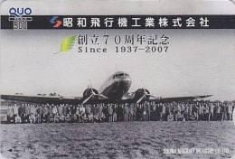 Carte Prépayée Japon - AVION - Airplane Japan Prepaid Card - Flugzeug Quo Karte - 348 - Avions