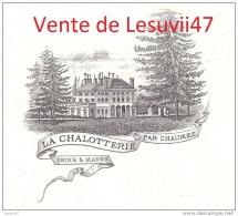 """Ozouer-le-Voulgis  (77-Seine & Marne)  """" La Chalotterie """", Chasse, Le 26 Décembre 1910 . - Historical Documents"""