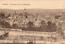 Namur Panorama Vers La Cathédrale ( Binnenvaartschip Peniche ) - Namur
