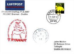 Erstflugpost - Ryanair - Bremen - Dublin - 11.05.2007 - Nebenstempel Mit Märchenmotiv [dx44d] - Märchen, Sagen & Legenden