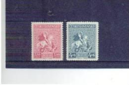 TSCHECHOSLOWAKEI , Czechoslovakia , 1946 , ** , MNH , Postfrisch , Mi.Nr. 490 - 491 - Tchécoslovaquie