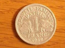 1 Franc Type Bazor Aluminium 1942 - H. 1 Franc