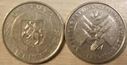Lithuania 1 Litas 1999 Commemorative Coin Baltic Way ( About UNC ) KM# 117 - Litauen