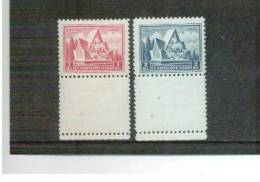 TSCHECHOSLOWAKEI , Czechoslovakia , 1935 , ** , MNH , Postfrisch , Mi.Nr. 336 - 337 + Lf - Nuovi