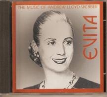 CD. EVITA. THE MUSIC OF ANDREW LLOYD WEBBER. (Evita PERON) - Other - English Music