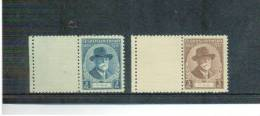 TSCHECHOSLOWAKEI , Czechoslovakia , 1935 , ** , MNH , Postfrisch , Mi.Nr. 334 - 335 + Lf - Nuovi