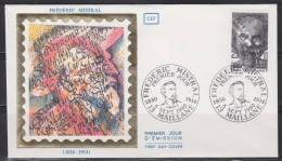= Enveloppe 6 Septembre 1980 Frédéric Mistral 13 Maillane 1f40+30c N°2098 Portraits - 1980-1989