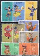 M877.-.BHUTAN.-. 1964 .-.SC#: 15-23 - MH - MASKED DANCERS .-. BUTHANESE DANCERS  .-. SCV : US$ 2.60 - Bhutan