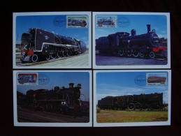 SOUTH AFRICA 1983 STEAM LOCOTIVE Issue Of 22nd.April WITH On MAXIMUM OFFICIAL CARDS With Datestamp.. - South Africa (1961-...)