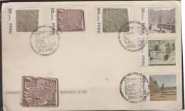O) 1974 PERU, PERU ARCHAEOLOGICAL MONUMENTS, STONE FIGURES, FDC. - Peru