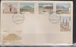 O) 1974 PERU, LANDSCAPES AND CITIES OF PERU, FDC. - Peru