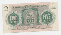 Libya Tripolitania 5 Lire 1943 XF++  P M3 - Libye