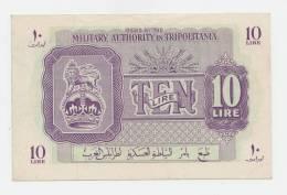 Libya Tripolitania 10 Lira 1943 WWII XF++ P M4 - Libye