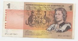 Australia 1 Dollar 1969 VF++ CRISP Banknote P 37c  37 C - Emissioni Governative Decimali 1966-...