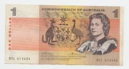 Australia 1 Dollar 1969 VF+ CRISP Banknote P 37c  37 C - Emissioni Governative Decimali 1966-...